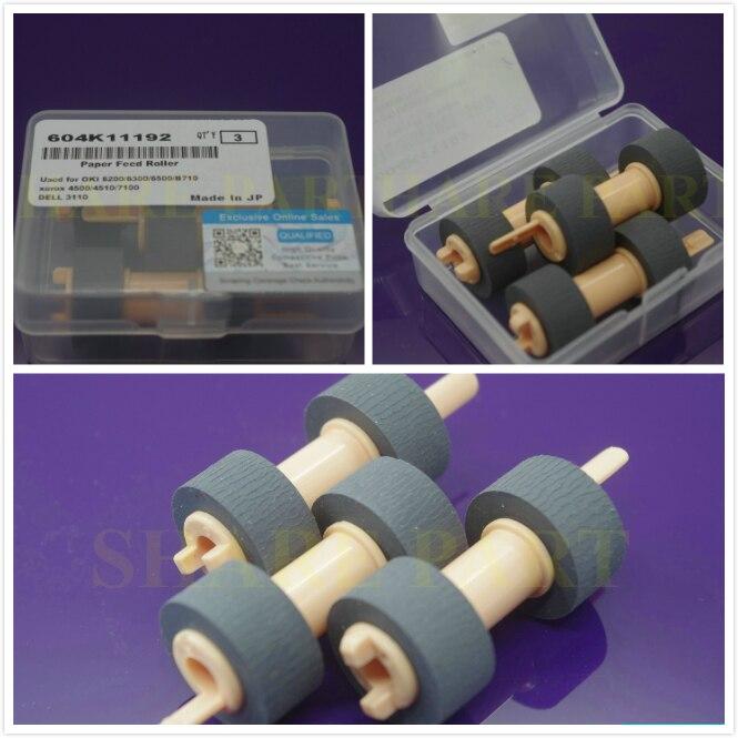 SHARE 15pcs Japan Pickup Roller 604K19890 604k11192 For Okidata B6200 6250 6500 6300 710 For Xerox 4500 4510 7100 For Dell 3110