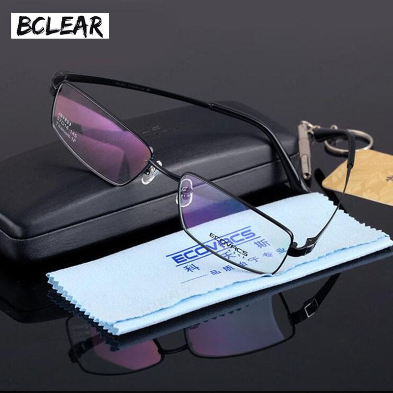 BCLEAR Full frame óculos de miopia homens de negócios D81653 ultra leve de  titânio frame ótico de alta qualidade 5b7b138bc4