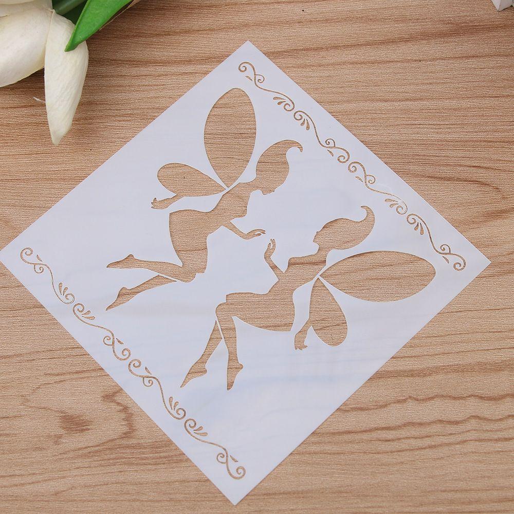 1PCS Magic Fairy Angel Reusable Stencil Airbrush Painting Art Cake Spray Mold DIY Decor Crafts