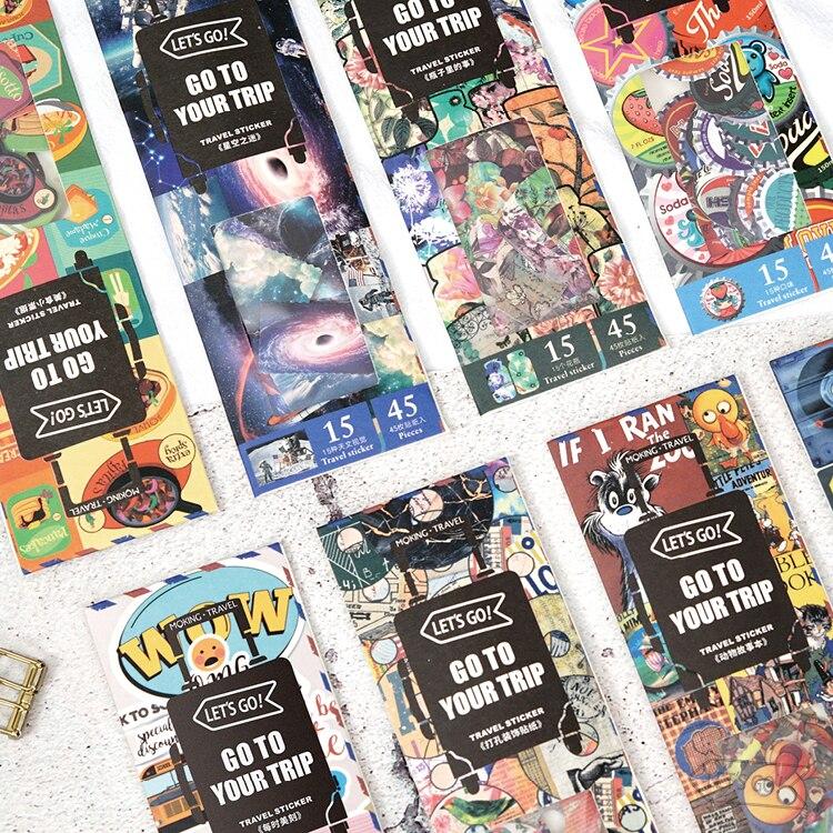 45pcs/pack Planner Stickers Decorative Sticker Collection For Scrapbooking, Calendars, Arts, Kids DIY Crafts, Album, Bullet