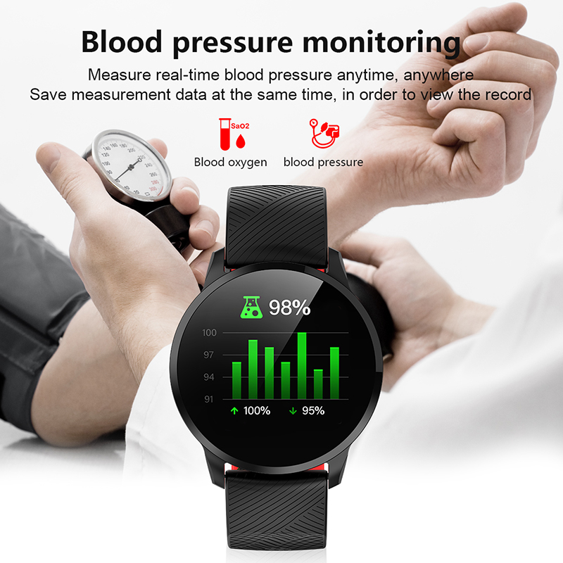 Image 3 - LIGE Sport Smart Bracelet Heart rate Blood Pressure Monitor Weather Display Pedometer Wristband Smartwatch For Android ios +Box-in Smart Wristbands from Consumer Electronics