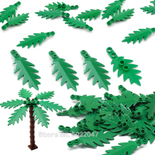 City Building Blocks Accessories Coconut leaves Tropical Leaves Plant Tree Diy Greening Garden Rainforest Figures Toy Legoinglys