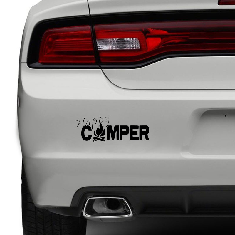 Car Sticker Universal 20x6.9 Cm Outdoor Car Sticker Decal Black Silver Vinyl Decals Car Styling Stickers For Auto Truck