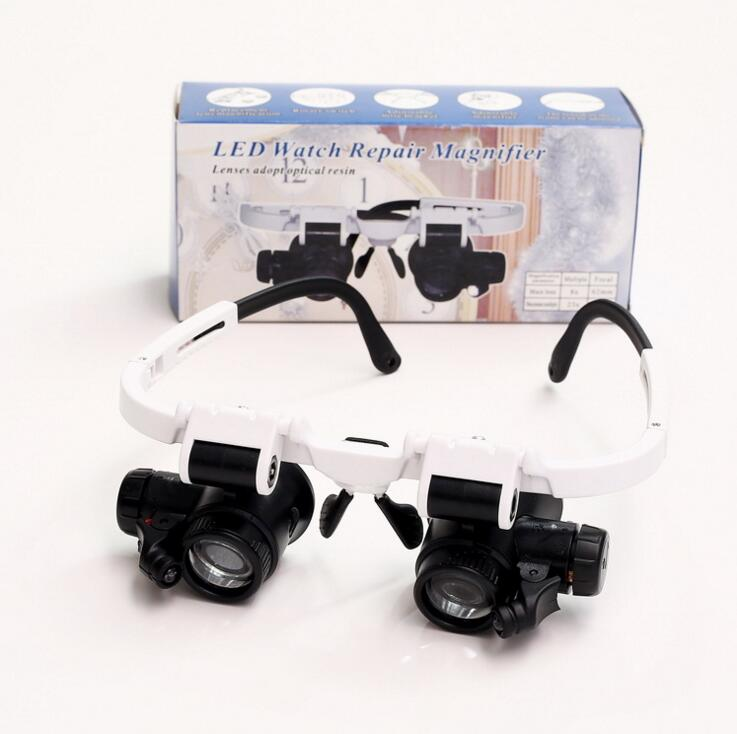 Magnifying Glass 8X 15X 23X Double LED Lights Eye Glasses Lens Magnifier Loupe Jeweler Watch Repair Tools SetMagnifying Glass 8X 15X 23X Double LED Lights Eye Glasses Lens Magnifier Loupe Jeweler Watch Repair Tools Set