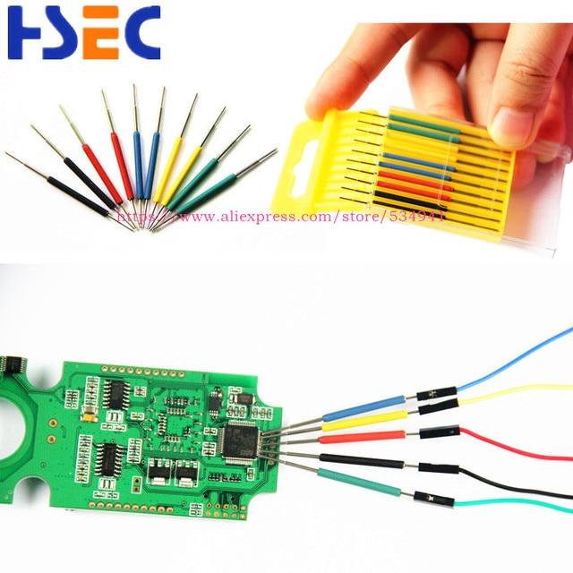 Micro IC pince 10 pièces/ensemble SOP/SOIC/TSSOP/TSOP/SSOP/MSOP/PLCC/QFP/TQFP/LQFP/SMD IC puce de test mini puces adaptateur prise