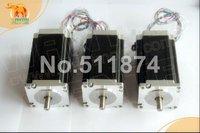 CNC barato! Wantai 3 UNIDS Nema 23 Stepper Motor Dual Shaft 57BYGH115-003B 3.0A $ number oz-in 115mm ISO del CE ROHS Bordado 3D Impresora