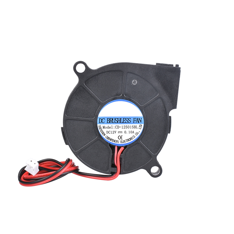 A impressora 3d parte 5015 ventiladores plásticos pretos do fã 12 v 24 v 0.1a turbo do ventilador de refrigeração 5cm 50x50x15mm 5015/4010/3010 5 v para a extrusora