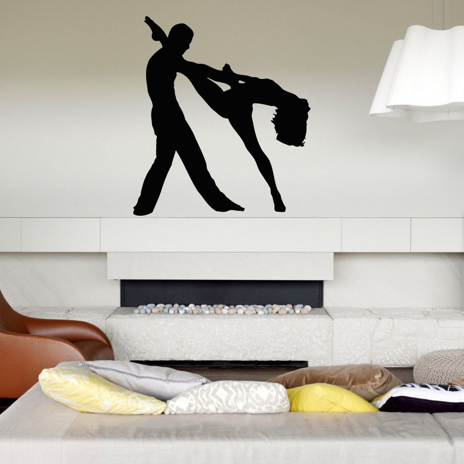Wall Decal Sticker Bedroom couple dance tango beautiful melody concert