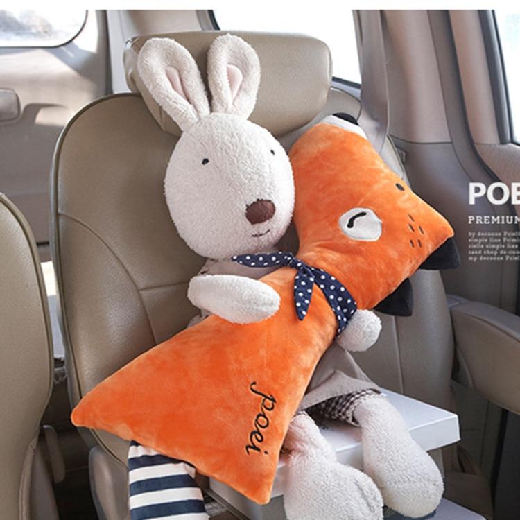 CNIKESIN חגורת בטיחות לרכב קריקטורה פטיש לילדים ילדים כרית רפידות כתף בטיחות פטינג ריפוד מותניים כריות סטיילינג