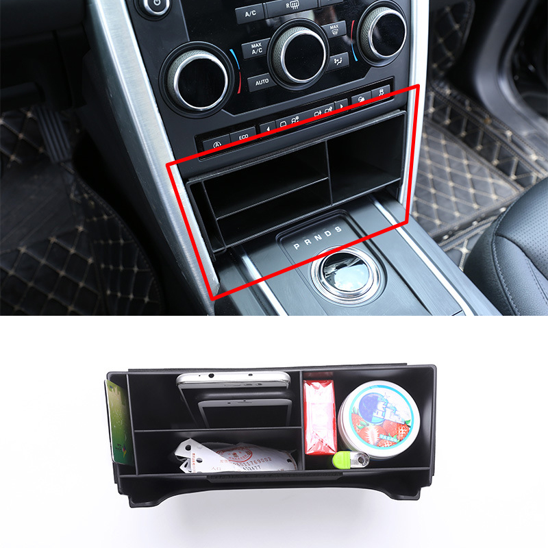 For Land Rover Discovery Sport 2015 2016 2017 Car Styling Plastic Central Console Multifunction Storage Box Phone Tray Accessory