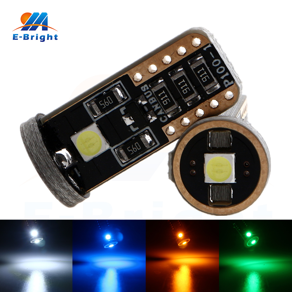 20pcs Error Free 12V T10 Canbus 3030 3 SMD Led Bulbs Car Signals Clearance License Plate Lights Pathway Lighting in Signal Lamp from Automobiles Motorcycles
