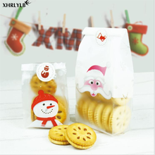 XHRLYLB New Cute Christmas Snowman Old Snowflake Crispy Cookie Bag Snack Baking Packaging Decoration Gift Bag.8