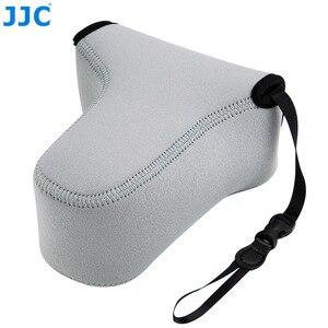 Image 4 - Jjc 미러리스 카메라 파우치 소프트 dslr 케이스 가방 소니 a6600 a6100 a6300 a6400 a6500 후지 필름 xt30 xt20 xt10 + 55 210mm 렌즈