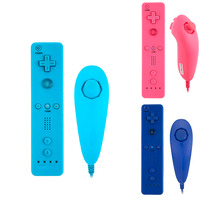 2016 Hot Wireless Remote Controller And Nunchuk Controller For Nintendo Wii With MOTION PLUS Protective Silicone
