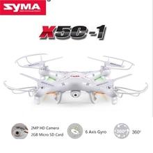Versión de actualización Syma X5C-1 4CH 2.4G RC Quadcopter con cámara de 2MP HD cámara y 2 gb tarjeta sd micro caja original rc helicóptero Drone
