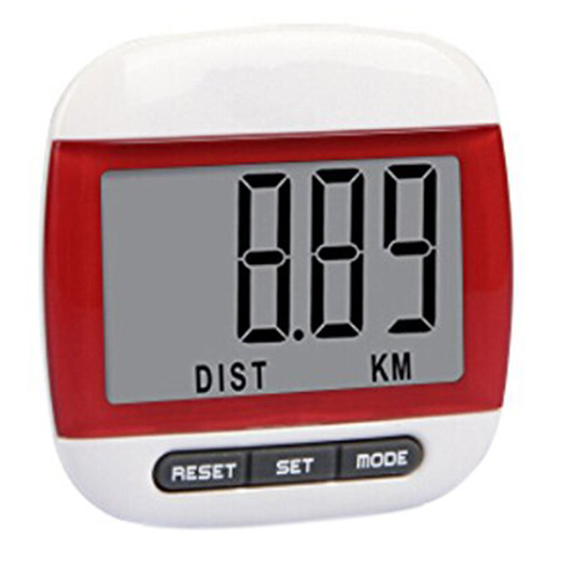 ELOS-Multifunction LCD Pedometer Walking, Step, Distance, Calorie Calculation Counter -Red