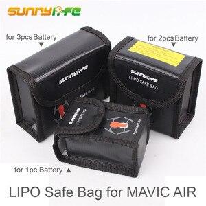 Для DJI Mavic AIR Lipo Battery Взрывозащищенная безопасная сумка Mavic Air Battery пожаробезопасный Чехол-коробка для хранения