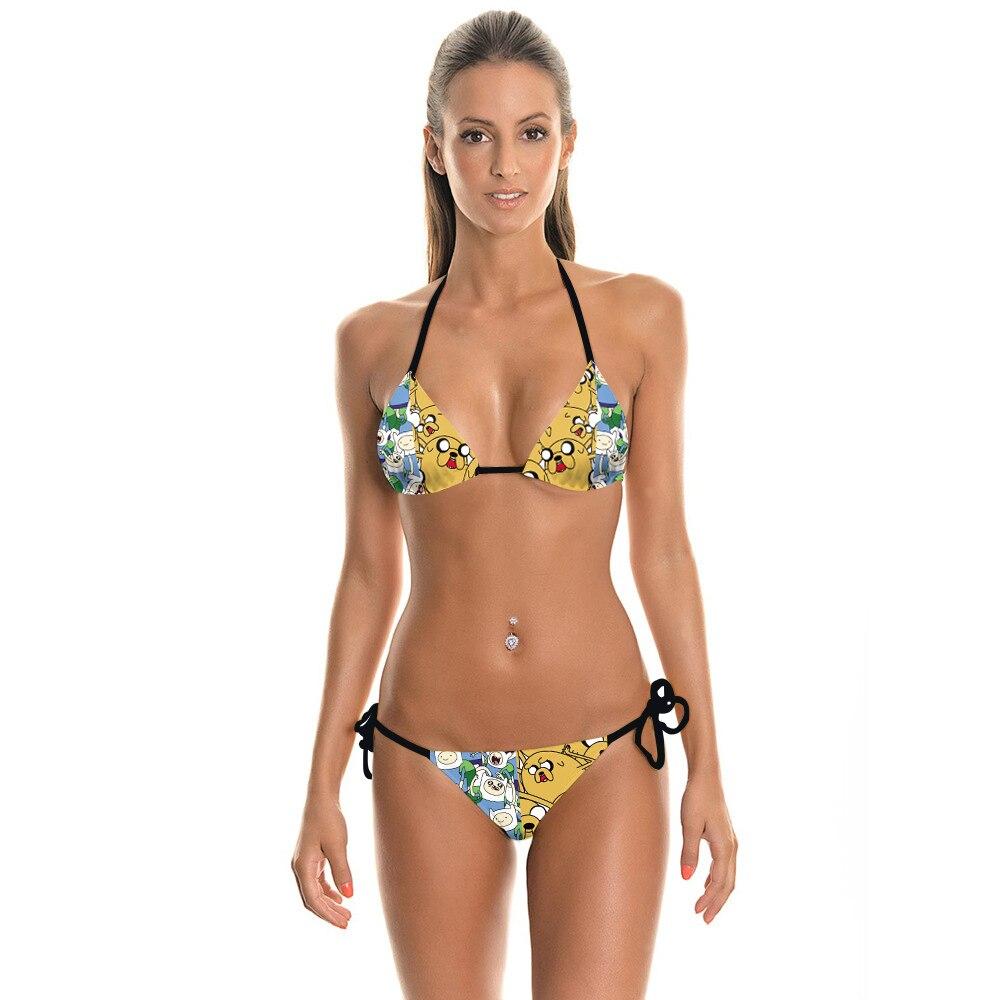 NEW 022 Sexy Girl Summer Adventure Time Jack 3D Prints Thongs Ropes Bikini Set Swimsuit Swimwear Women Bathing Suit salahuddin khan relationship among qualifications experience gender