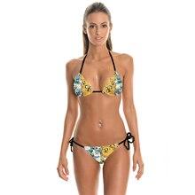 NEW 022 Sexy Girl Summer Adventure Time Jack 3D Prints Thongs Ropes Bikini Set Swimsuit Swimwear Women Bathing Suit