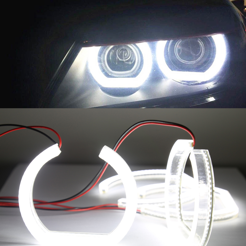 car styling 1 set Crystal Angel eyes for BMW F30 F35 headlights 120mm*128mm auto accessory parts free shipping 1 set 2x 120mm 2x 128 mm f30 f35 crystal led angel eyes for bmw