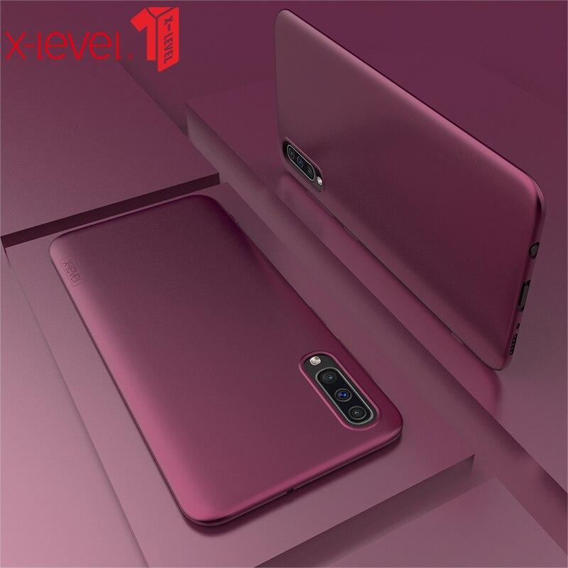 X-уровень силиконовый чехол для samsung Galaxy a50 Мягкие TPU ультра тонкий матовый Touch задняя крышка телефона для samsung a30 a50 a70 случае
