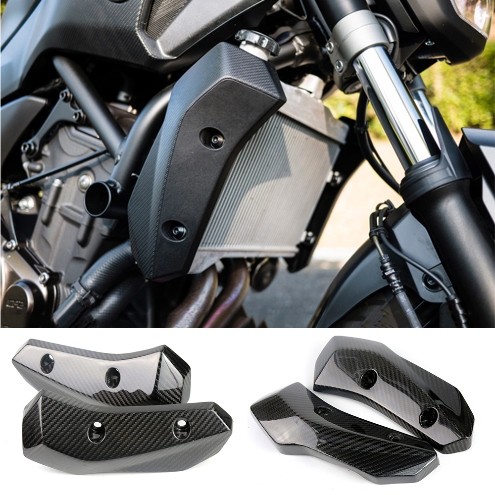 For Yamaha MT07 FZ07 FZ-07 2013-2017 Motorcycle Accessories Carbon Fiber Radiator Grille Side Guard Cover Protector for yamaha mt 07 mt 07 fz 07 fz 07 radiator grille guard cover protector for yamaha mt07 fz07 2014 2015 2016 2017