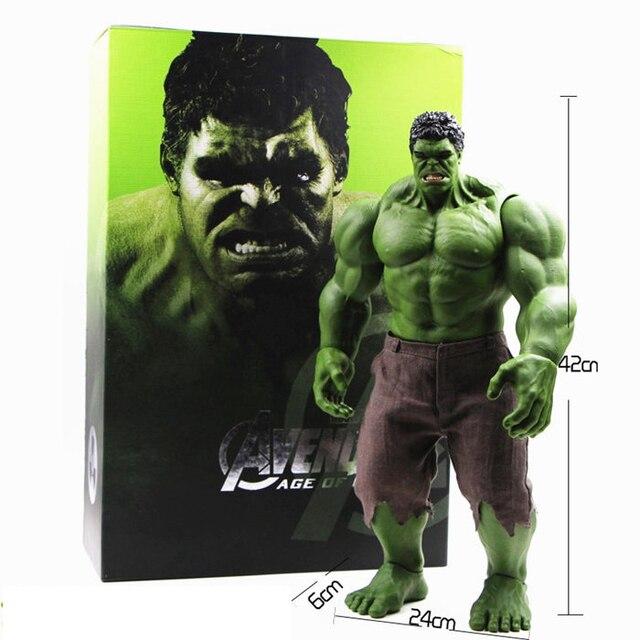 Hot Avengers Incredible Hulk Homem De Ferro Hulk Buster Age Of Ultron Hulkbuster 42 CM PVC Brinquedos Figura de Ação Hulk Smash