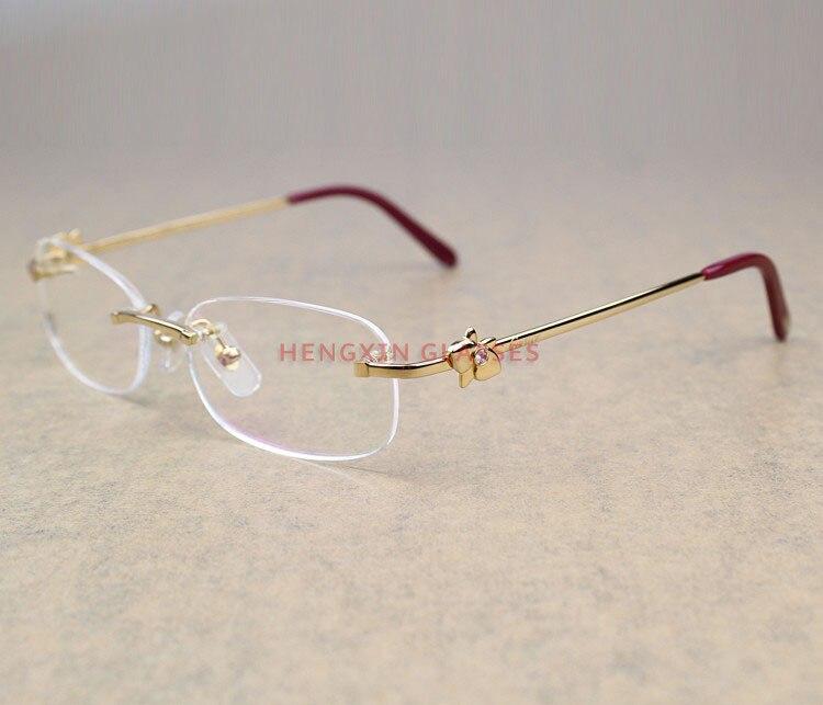 El mejor regalo marca anteojos sin montura de diamante con estilo ...