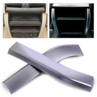 ABS Plastic Car Styling Pair Chrome Plated Armrest Box Rear Air Vent Frame Trim Cover Fit