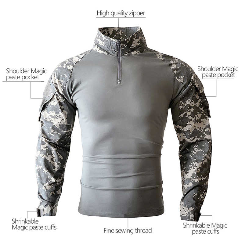 軍事スタイル陸軍戦闘 Airsofts 制服戦術的な迷彩戦術服男性軍服
