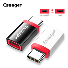 Essager Micro USB to Type C Adapter OTG Cable for Xiaomi mi 9t 9 mix 3 oneplus 7 pro OTG Type-C Adapter Microusb USB C Connector цена