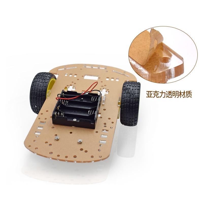 Transparent Motor Smart Robot Car Chassis Kit Speed Encoder Battery Box for robot diy
