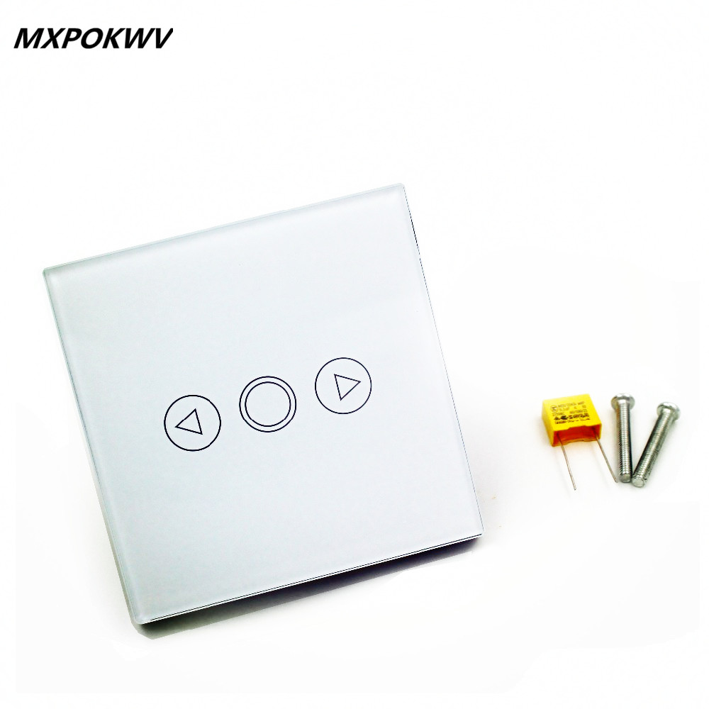 euuk standard touch light dimmer switch crystal touch glass pane wall switch smart rf 433mhz dimmer switch for lamp