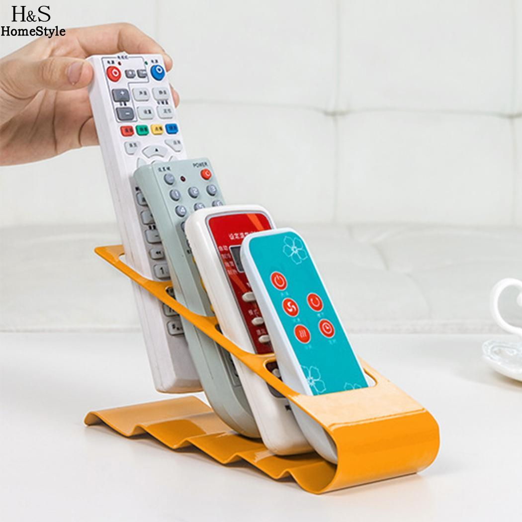 4 Saving Metal TV Carries Space Remotes Control Stand Holder Rack Organizer