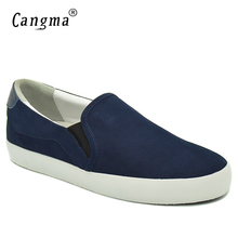 CANGMA Marque Loafer Woman Cow Suede Shoes Flats Genuine Leather Sneakers Women Blue Footwear Female Slip On Luxury Casual Shoes