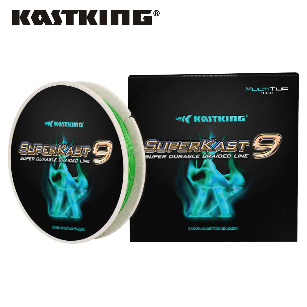 KastKing SuperKast 9 Weaves 150M Durable PE Braided Fishing Line 10LB - 80LB Multifilament Green Color for Pike Bass Fishing