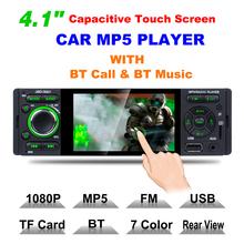 Radio samochodowe 1din jsd-3001 Radio samochodowe 4 1 cal ekran dotykowy Audio Mirror Link Stereo Bluetooth widok z tyłu kamery usb aux odtwarzacz tanie tanio vanlga 50Watts x 4 max power output 0 65kg W desce rozdzielczej metal+plastic Tuner radiowy Angielski 87 5-108MHz 12 v 178x125x50mm
