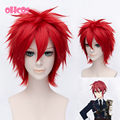 OHCOS Touken Ranbu Online Shinano Toushirou 12inches Short Res Straight Synthetic Hair Cosplay Wig Instock