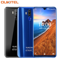 Oukitel K9 Mobile Phone 7.12 inch Waterdrop Display 4GB+64GB MTK 6757 Octa Core Android 9.0 Battery 6000mAh Face ID Smartphone