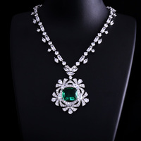 New Fashion CZ Long Necklace Women Famous better White Gold Color Crystal Statement Necklaces & Pendants For Party