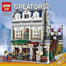 Lepin 15010 Creator Expert City Street Parisian Restaurant Model Building Kits Minifigure Blocks Toy Compatible with10243