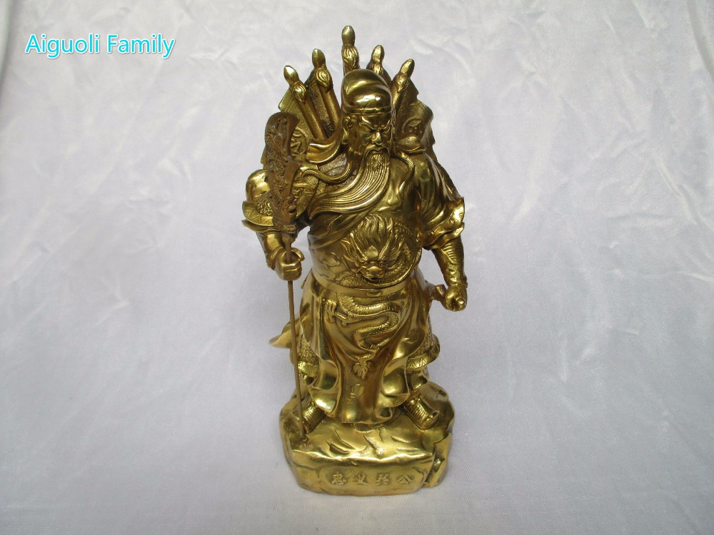 Wedding Decorations/Art Collection Chinese Brass Carved Gugong Statue /Home Decoration Feng Shui Big Chinese Warrior Sculpture