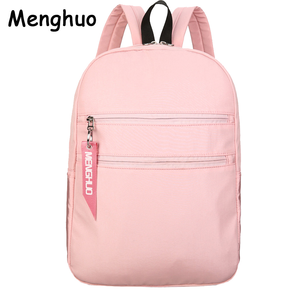 Menghuo School Backpack Women College Schoolbag Female Back Pack Leisure Korean Ladies Bag Laptop Travel Bags for Girls Mochilas ...