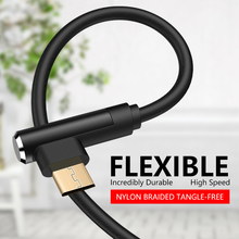 цена на ASINA 90 Degree Micro USB Cable Right Angle Data Charger Cable For Xiaomi Huawei Oneplus Samsung USB Charging Cable For Gamers