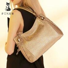 FOXER бренд для женщин из коровьей кожи сумка Мода Дизайн Высокое качество Сумки Женский Tote кошелек