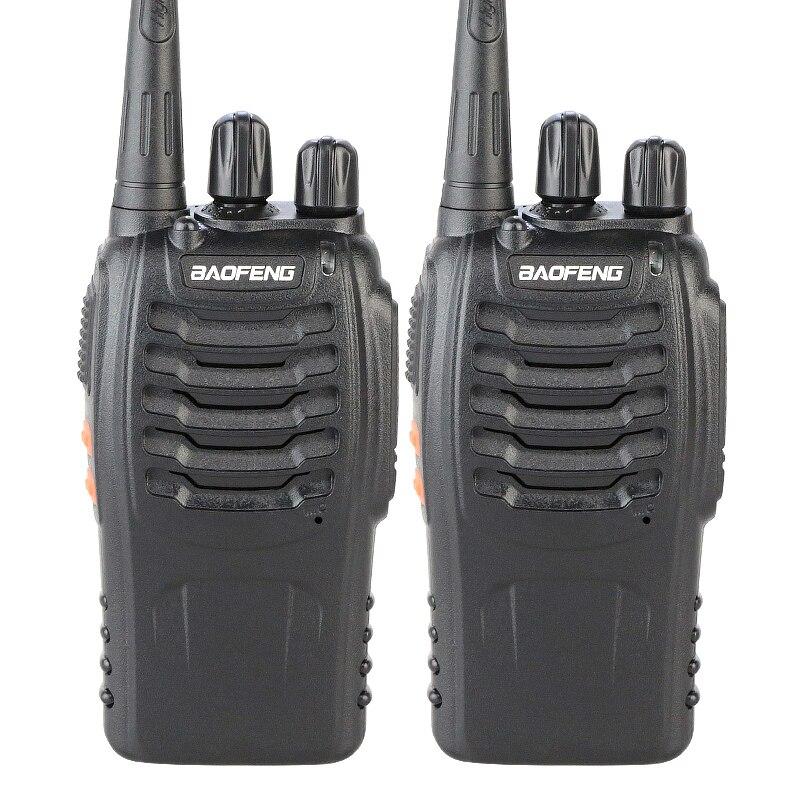 bilder für 2 STÜCKE Original 5 Watt Max 16 Kanäle 400-470 MHZ PMR Walkie Takie Zweiwegradio Baofeng BF-888S