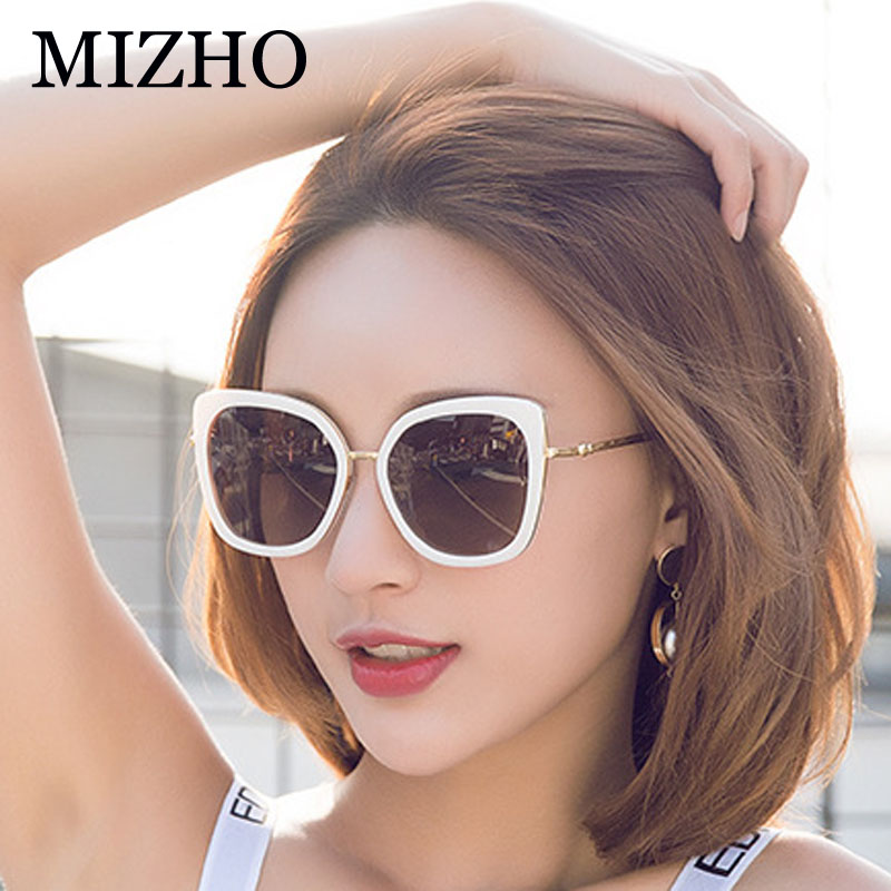 MIZHO 2019 Pink Plastic Square Polaroid Sunglasses Women Brand Designer Sexy Ladies Vintage Gradient Glasses Driving Shades in Women 39 s Sunglasses from Apparel Accessories