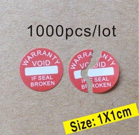 1000 pcs lote diametro 10mm garantia adesivo etiqueta de selagem vazio se o selo quebrado