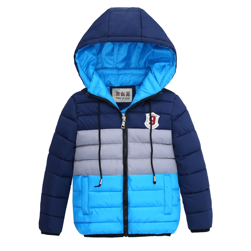 Hot New  Kids Toddler Boys Jacket Coat Hooded Jackets For Children Outerwear Clothing Winter Warm Baby Boy Clothes