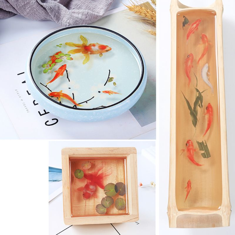 3D Real Goldfish Clear Film Sticker Resin DIY Water-Like Painting Jewelry Making